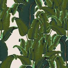 banana leaf wallpaper tiles