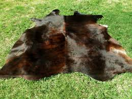 large brindle dark brown cowhide rug natural cowhides cow hide skin 6x6 feet rro