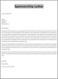 Sample Letters For Sponsors Ukranagdiffusion Custom Format For Sponsorship Letter