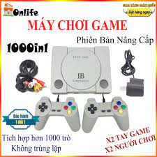 máy chơi game 4 nút, maychoi game cầm tay giá rẻ tích hợp 1000 trò, máy