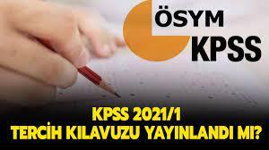 KPSS tercih kılavuzu yayınlandı!
