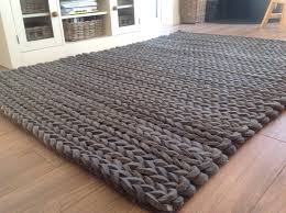 chunky knit throw rug beautiful luxury thick hand loomed charcoal grey pleated wool rug chunky yarn