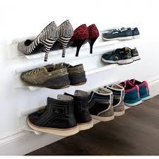 horizontal wall mounted shoe rack