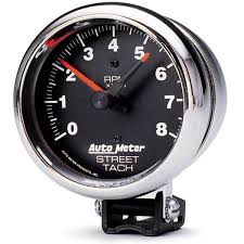 pedestal tachometer rpm traditional chrome