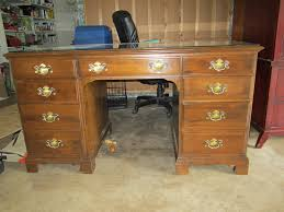i have a vintage ethan allen credenza style desk with book shelves intended for desks remodel