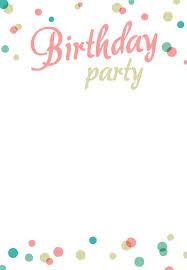Birthday Invitations Free Download Printable Invitations