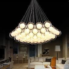 modern art glass chandelier led pendant light for living room bar ac85 265v g4 bulb hanging glass pendant lamp fixtures pendant lamp shades glass pendant