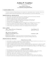 Resumes Objective Examples Career Objective For Resume For Entry