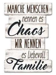 Wandschild Dekoschild Familie Schild Vintage Shabby Liebe Chaos
