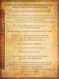10 Commandments Chart Chart Ten Commandments Niv Text Laminated
