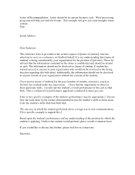 Recommendation Letter Request Example Recommendation Letter Sample Word Document Valid Free Reference