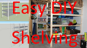 how to build storage shelving easy diy plans included