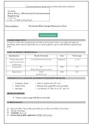 Resume Template Word Simple Simple Resume Format In Word Simple Resume  Format Sample