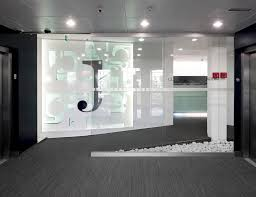 futuristic office design. Office Interior Designs At Home And Corporate: Futuristic Design Dental Medicare White Black. «