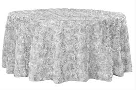 rosette satin tablecloth silver lightbox moreview