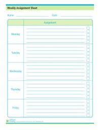Student Assignment Planner Printable Assignment Sheet Can Help Kids And Parents Stay On Top Of Their
