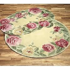 flower shaped rugs rose area rug roses oval bath mats