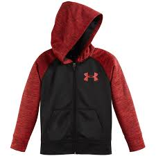 under armour zip up. under armour boys\u0026rsquo; twist af full-zip hoodie - black/red under armour zip up