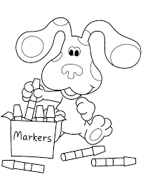 Small Picture Free Printable Blues Clues Coloring Pages For Kids