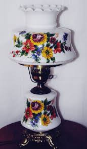 Painting Glass Lamps 169 Best Lamps Lamps Vintage Table Lamps Images On Pinterest