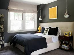 bedroom : Appealing Bedroom Decorating Color Schemes Design With White Bed  Along Dark Gray Bed Covers Also Brown Wooden Table Bedside Plus Twin White  ...