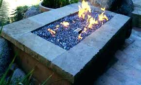 glass beads fire pit gas round propane pits table with little and tiles ideas large outdoor