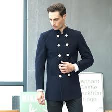 pea coat for mens pea coat winter long wool trench coats double ted slim fit overcoat pea coat for mens