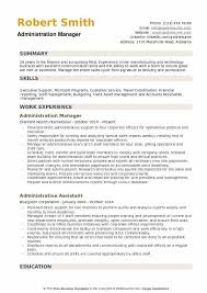 Sample Travel Management Resume Administration Manager Resume Samples Qwikresume