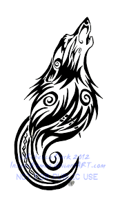 tribal wolf and moon drawing. Delighful And Tribal Swirls Wolf And Moon Art Inside And Drawing A