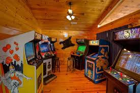 Home game room Design Mountain Lake Lodge Fun Cabinarcade Room Game Room Home Thea Polskadzisinfo Mountain Lake Lodge Fun Cabinarcade Room Game Room Home Thea