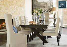 dining room living es laidback luxury styled by jeff lewis dining table 375 wingback chair 295 side chair 195 total 2 200