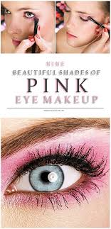 attractive and cute pink eye makeup look in styles