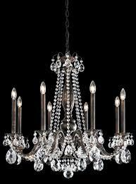 schonbek al6508n 22h alea 8 light crystal chandelier in heirloom gold with clear heritage crystal