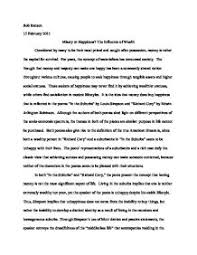 how to write an essay introduction about richard cory essay richard cory modernism essay pot com