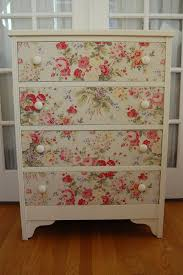 how to wallpaper furniture. Re-purpose That Vintage Wallpaper Into A Country-cottage Style Chest Of Drawers ( How To Furniture G