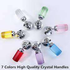 cabinet knobs silver. Modren Silver Fashion Deluxe Glass Crystal Shaky Knobs Silver Drawer Cabinet Pulls  Red Blue Yellow Furniture Decoration Handlesin Cabinet Pulls From Home  For Knobs Silver W