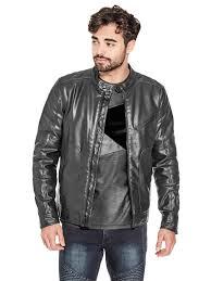 guess factory men s belden moto jacket guess factory men 039 s belden moto jacket