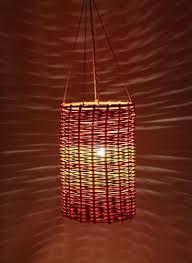 paper n shaper cylindrical paper lamp shade orange