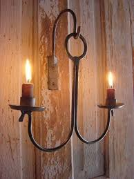 rustic sconce candle holder candle wall