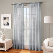 crushed voile sheer 63 rod pocket window curtain panel be the first to write a review about this picture 1 of 1