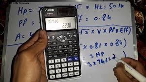 3 phase motor s calculation cur formula urdu hindi electrical urdu tutorials