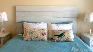 diy wooden headboard makes your bedroom image lisa silfwerbrand sheknows