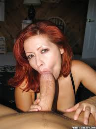 Red head giving blowjobs