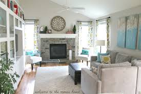 white furniture decorating living room. Most Popular Wall Paint Color For Family Room Decorating Ideas On A Budget With Wooden Flooring And Ceiling Fan Also Using White Furniture Living