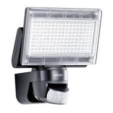 steinel xled home 1 pir sensor 12w led outdoor security flood light in black