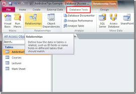 database tools database tools tab access information