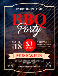 Barbecue Flyers Bbq Party Flyer Template Postermywall