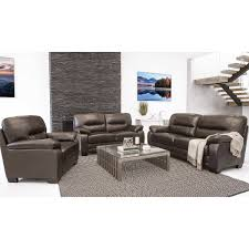 Leather Living Room Set Brentwood 3 Piece Top Grain Leather Living Room Set