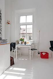Holz Laminat Boden Schwarz Esszimmer Tisch Weiß Esszimmer