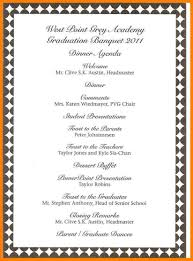 Banquet Agenda Template Awards banquet program template programs templates sample agenda 24 1